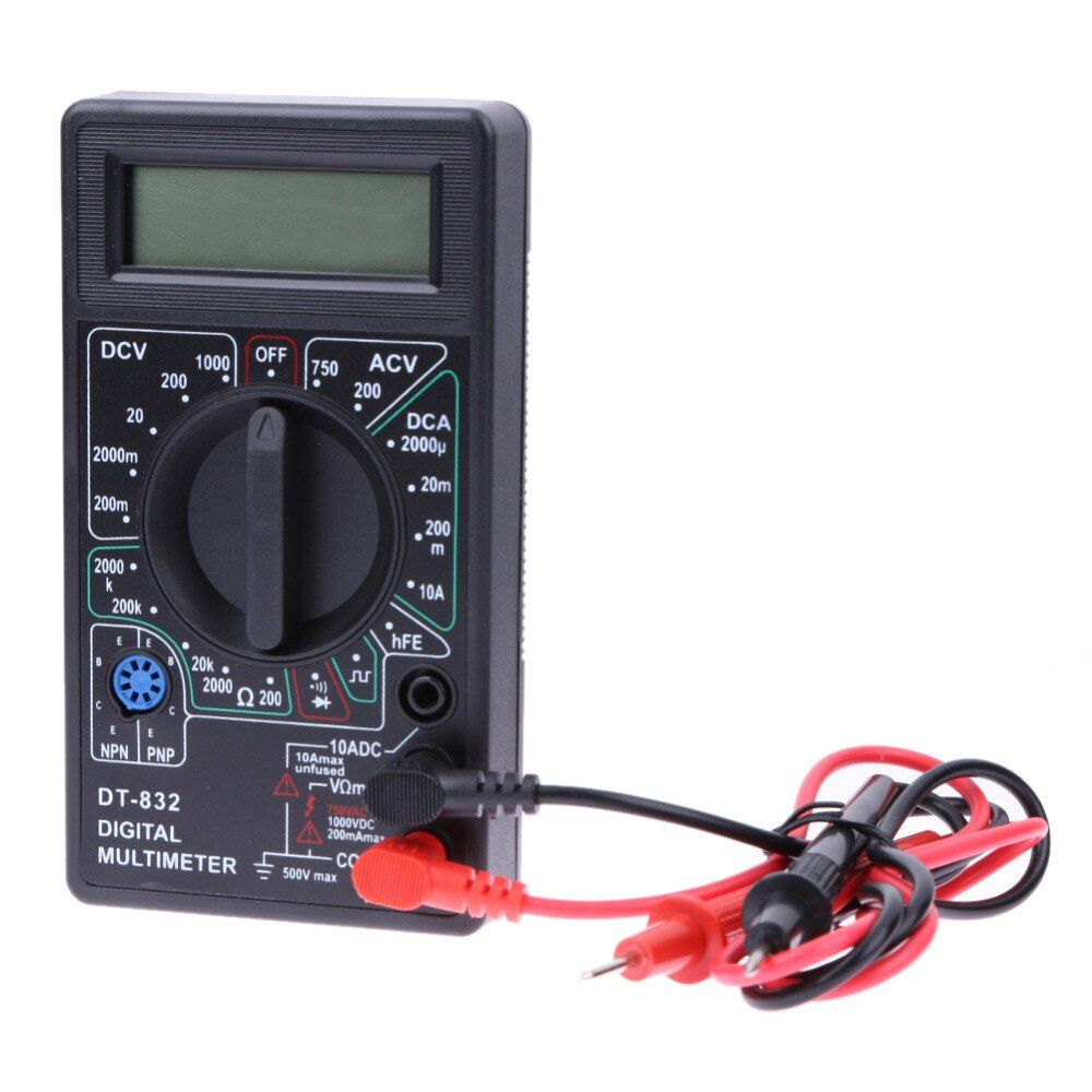 Professionelle DT832 Mini Einem Digitalen Multimeter LCD DC AC Voltmeter Amperemeter Ohm Tester Digital-Multimeter