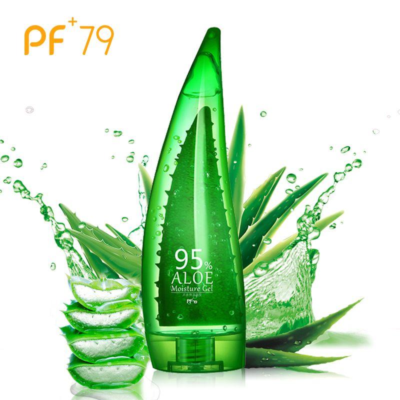 PF79 260 ml 95% Gel d'aloès Gel d'aloe Vera Gel de soin de la peau contrôle de l'huile de visage traitement d'acné Anti-âge blanchissant hydratant