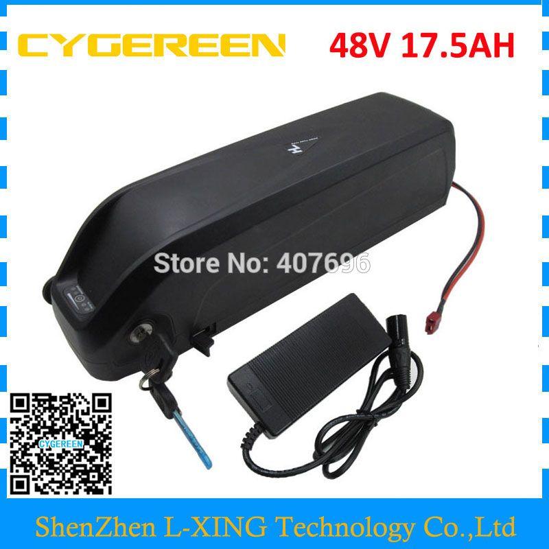 Down tube Hailong 48V 17.5Ah battery 1000W 48V17AH lithium battery with USB Port Use For Samsung 3500mah cells US EU Free Tax