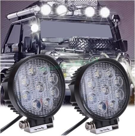 1pcs 4 Inch 27W LED Work Light Floodlight 12V 24V Round LED Offroad Light Lamp Worklight for Off road Motorcycle Car Truck Hot