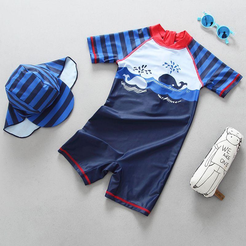2018 neue jungen Badeanzug Jungen Bademode Kinder Badeanzug Einteiligen Badeanzug Jungen Bademode Kinder Schwimmen Anzüge Kostüme UPF50 +
