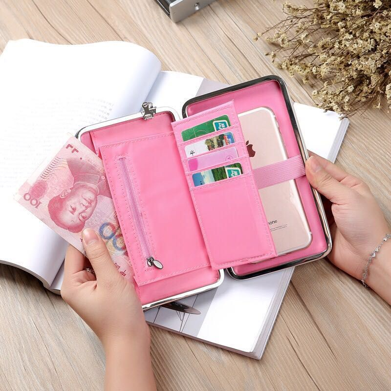 2017 New purse wallet female famous brand card holders cellphone pocket gifts for women money bag clutch