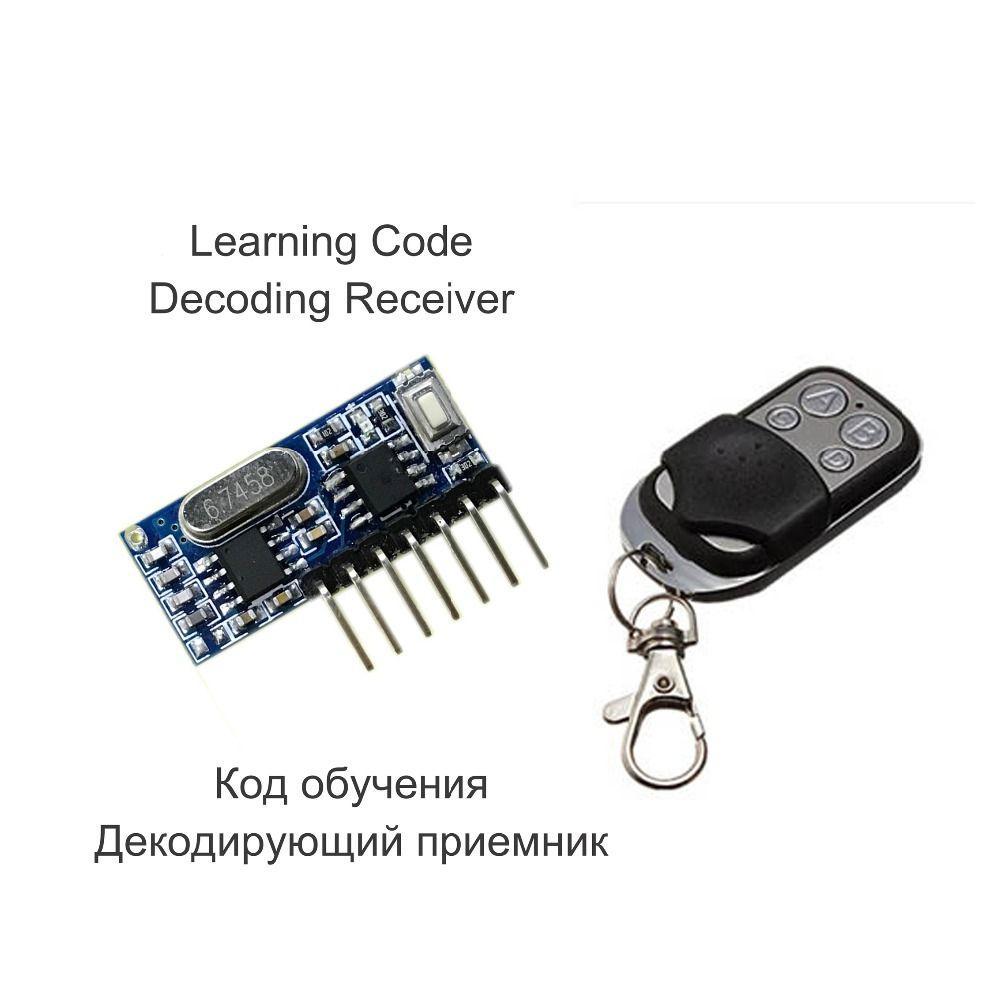 433 Mhz Fernbedienung und 433 Mhz Drahtlose Empfänger Learning-Code 1527 Audio-player-decodierungsmodul 4-kanal-ausgang Mit Lerntaste