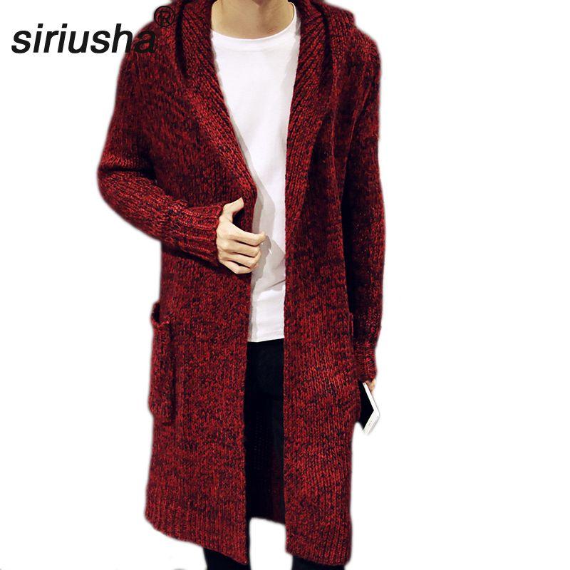 2019 offre spéciale Eden Park automne et hiver amoureux vêtements d'extérieur homme moyen-long chandail Cardigan épaississement Long Design manteau S38