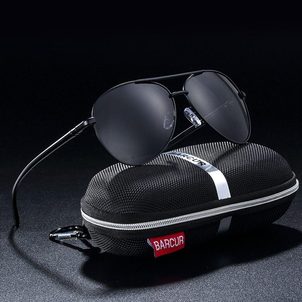 BARCUR Lunettes Accessoires Hommes lunettes de Soleil Mâle Chaude Mâle Lunettes de Soleil Polarisées lunettes de Soleil pour Hommes Lunettes