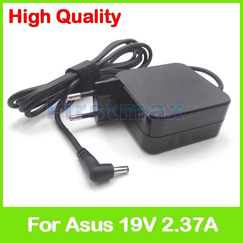 19V 2.37A laptop ac power adapter charger for Asus F541UV F556UA F556UJ F556UQ K541UA K541UJ K541UV N543UA D540SA X302LA EU Plug