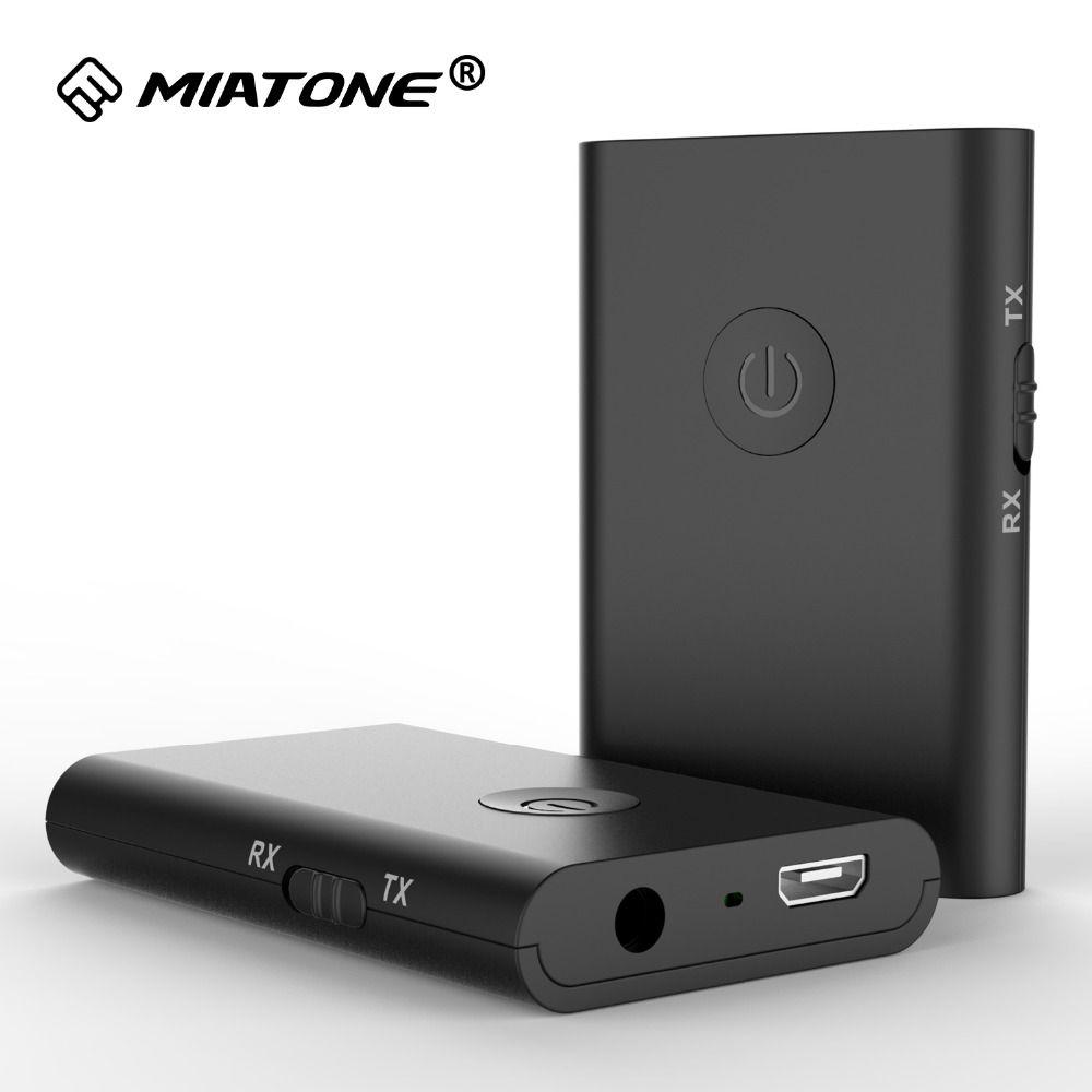 2-en-1 Stéréo Sans Fil Bluetooth Récepteur 3.5mm Jack Bluetooth Audio Musique Transmetteur Adaptateur APTX pour TV De Voiture Haut-Parleur Casque
