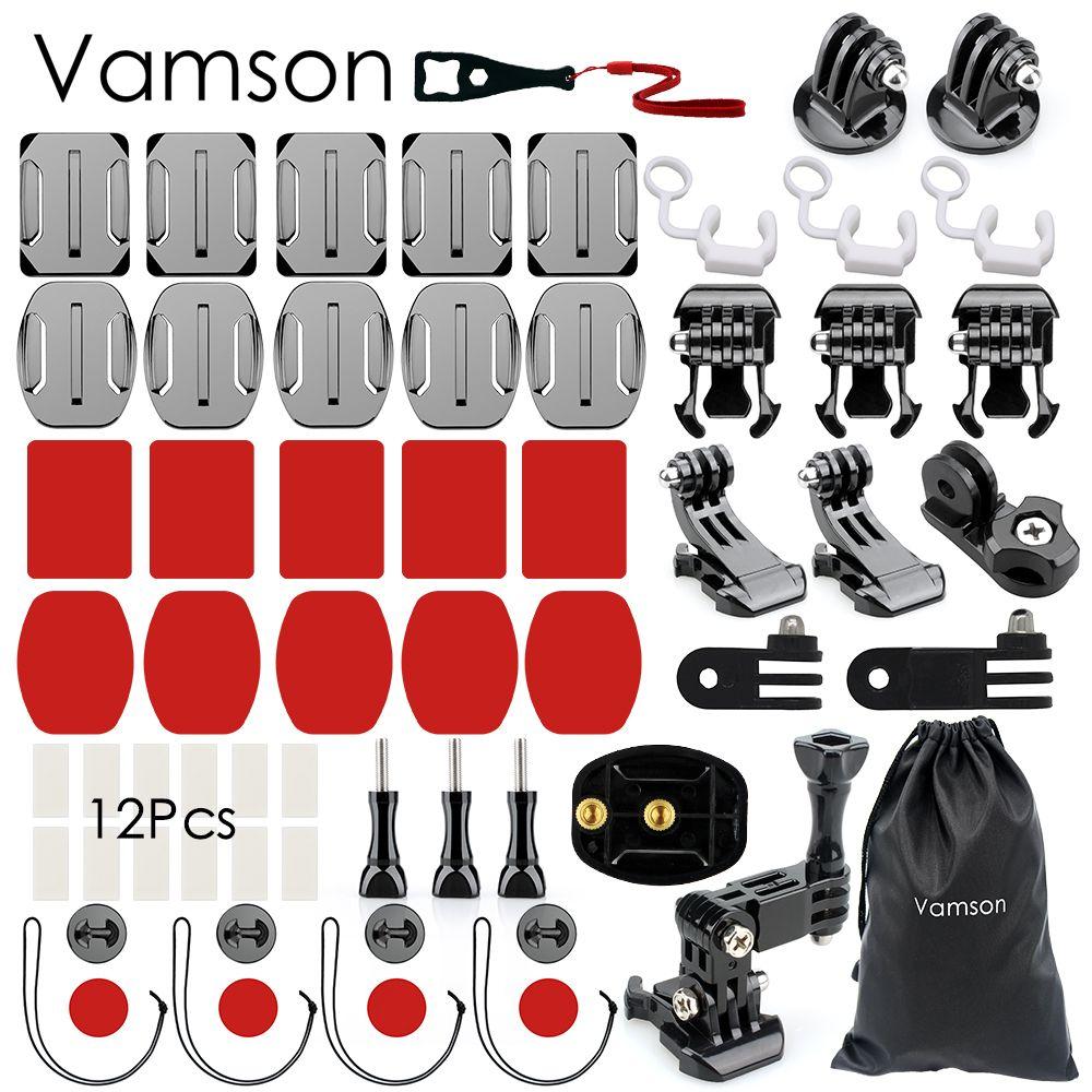 Vamson for Gopro Hero 5 Accessories Kit <font><b>practical</b></font> Adapter Mount For Gopro Hero 5 4 3 for Xiaomi for SJCAM VS90