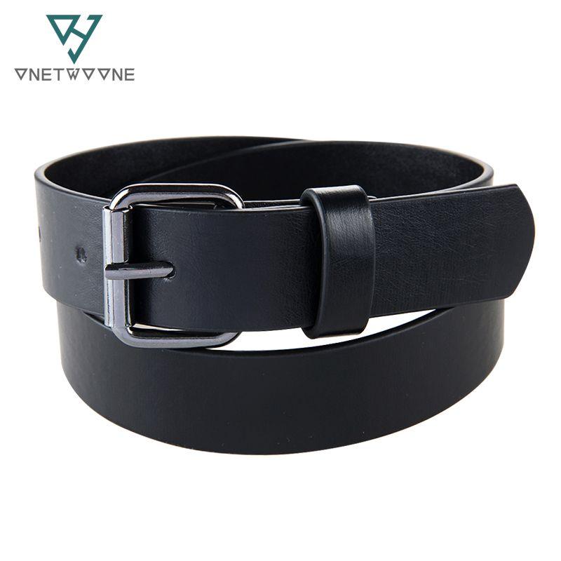 Haute qualité enfants PU taille ceintures garçons étudiants Jeans pu cuir ceinture sangle noir boucle ardillon adolescents enfants enfants trou ceinture