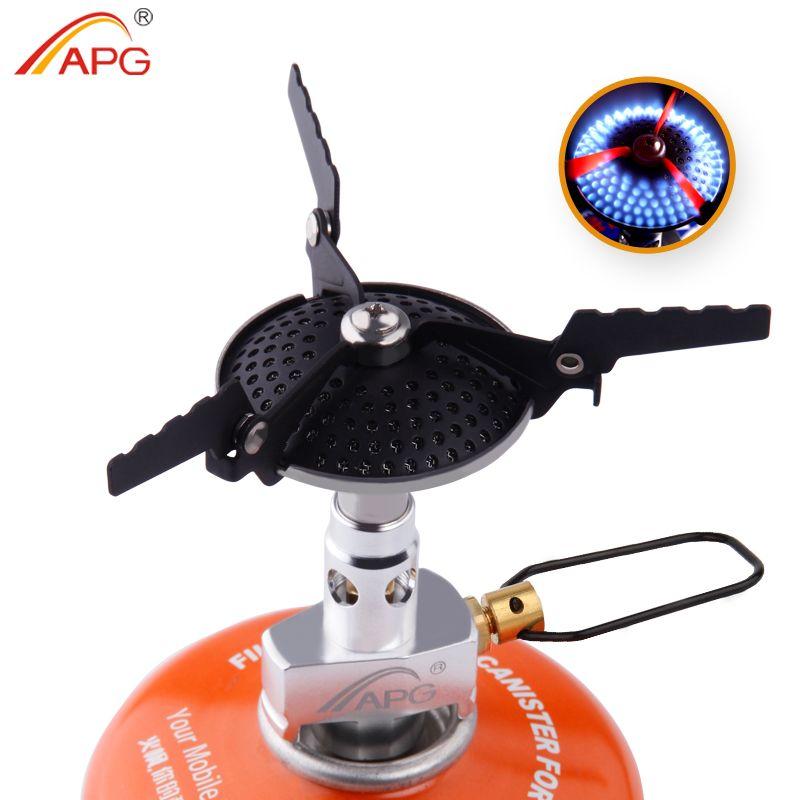 APG Portable pliant Mini Camping cuisinière en plein air ustensiles de cuisine 70g 2300 W poche pique-nique cuisson brûleurs à gaz