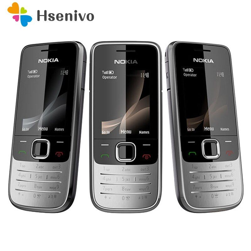 Refurbished Nokia 2730 classic Unlocked Mobile Phone 2730c Cheap 3G Phone Quad-Band 2MP Camera 1 Year Warranty free shipping