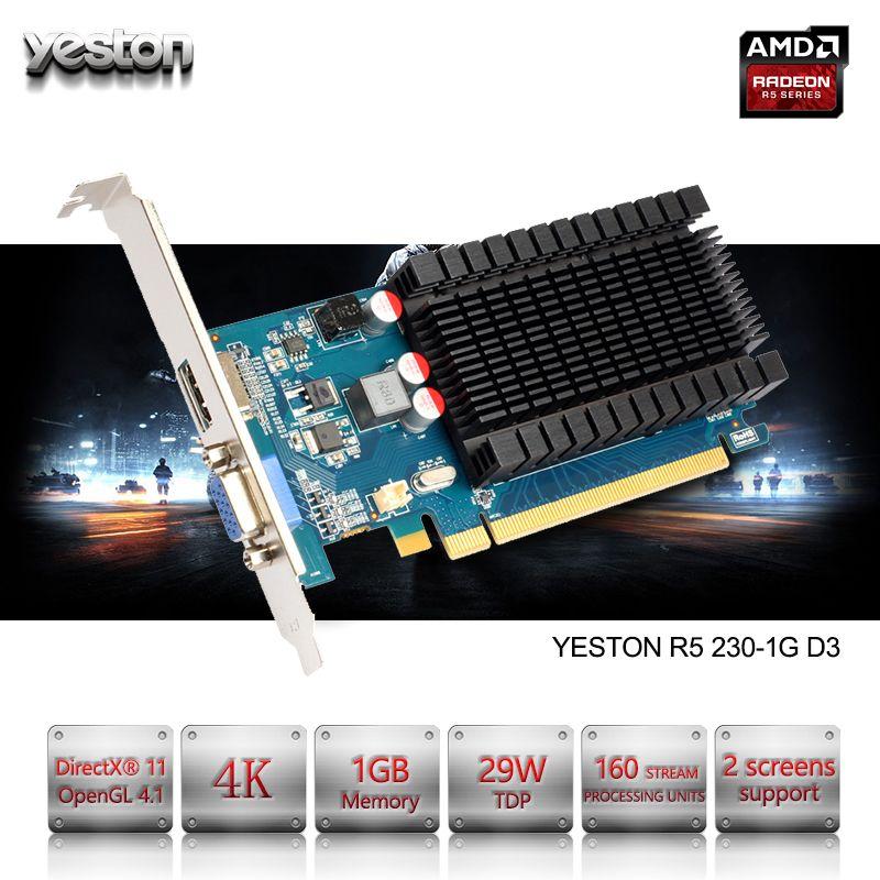 Yeston Radeon R5 230 GPU 1 GB GDDR3 64 bit Gaming desktop-computer PC Video Graphics Karten unterstützung VGA/HDMI PCI-E X16 2,0