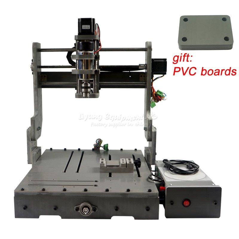 300W CNC Router 3040 Cutting Milling Engraving Machine Mini Lathe engraver for DIY