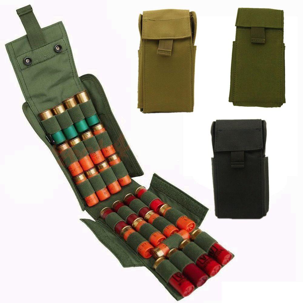 Taktische Molle 25 Runde 12GA 12 Gauge Magazintaschen Magazin Ammo Shells für Jagd Shotgun Reload