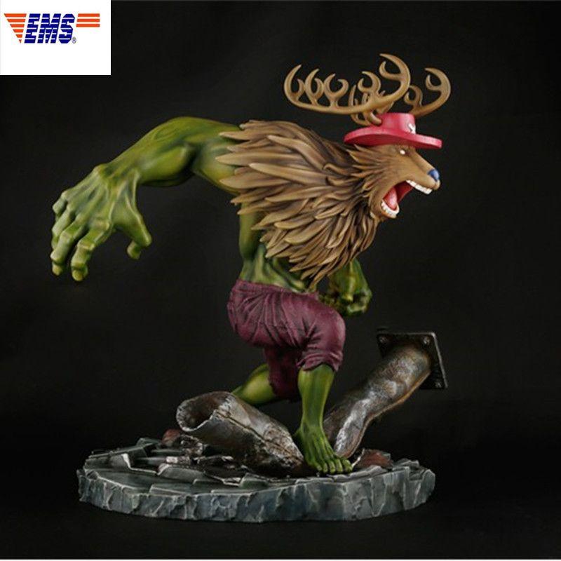 41CM The Avengers Superhero Hulk Cosplay Tony Tony Chopper GK Resin Statue Action Figure Collection Model Decoration X76