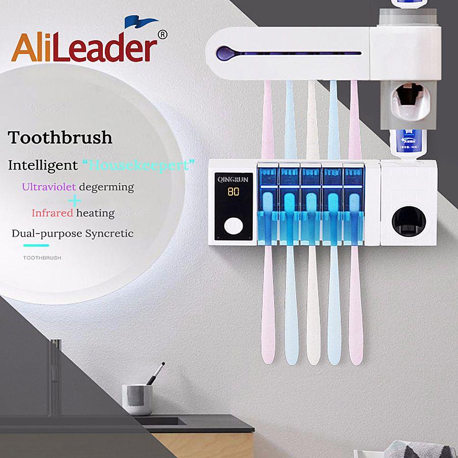 Family Toothbrush Sanitizer Autoclave Sterilizator Toothpaste Dental Dispenser Sanitizer Useful Holder Plastic Cleaner Sterilize