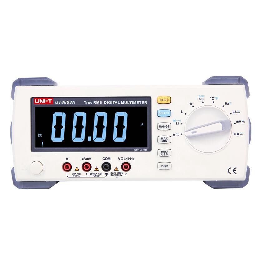 UNI T UT8803N Bench Top Multimeter DMM True RMS EBTN DCV/ACV/DCA/ACA Ohmmeter Induktivität Kapazität temperatur messung