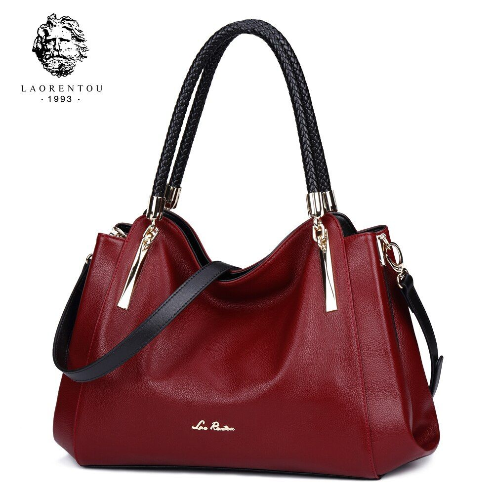LAORENTOU Women Bags Leather Luxury Handbag Women's Bags Valentine's Day Present Ladies Casual Tote Purse Fashion Crossbody Bags