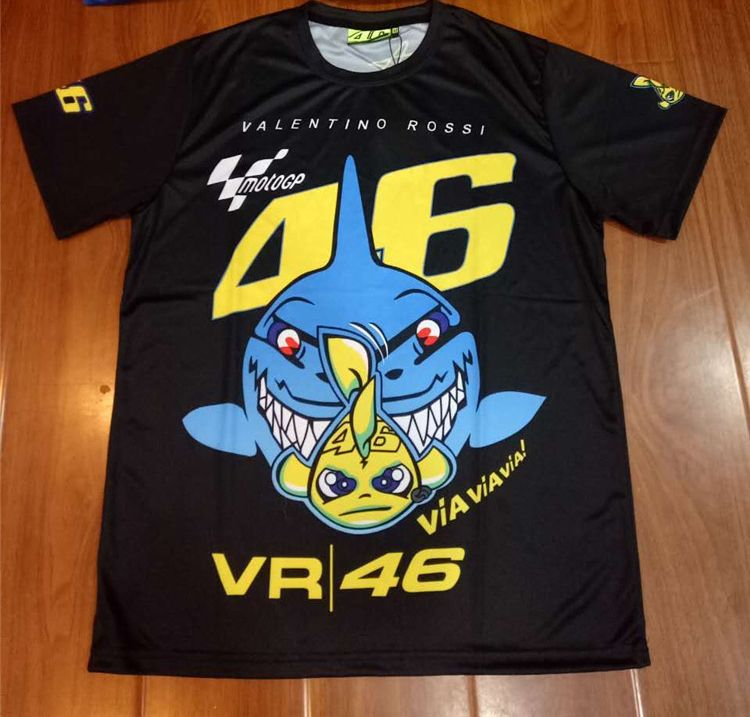 Free shipping 2017 NEW Valentino Rossi VR46 The Doctor Moto Gp Quick-drying Jersey T-shirt