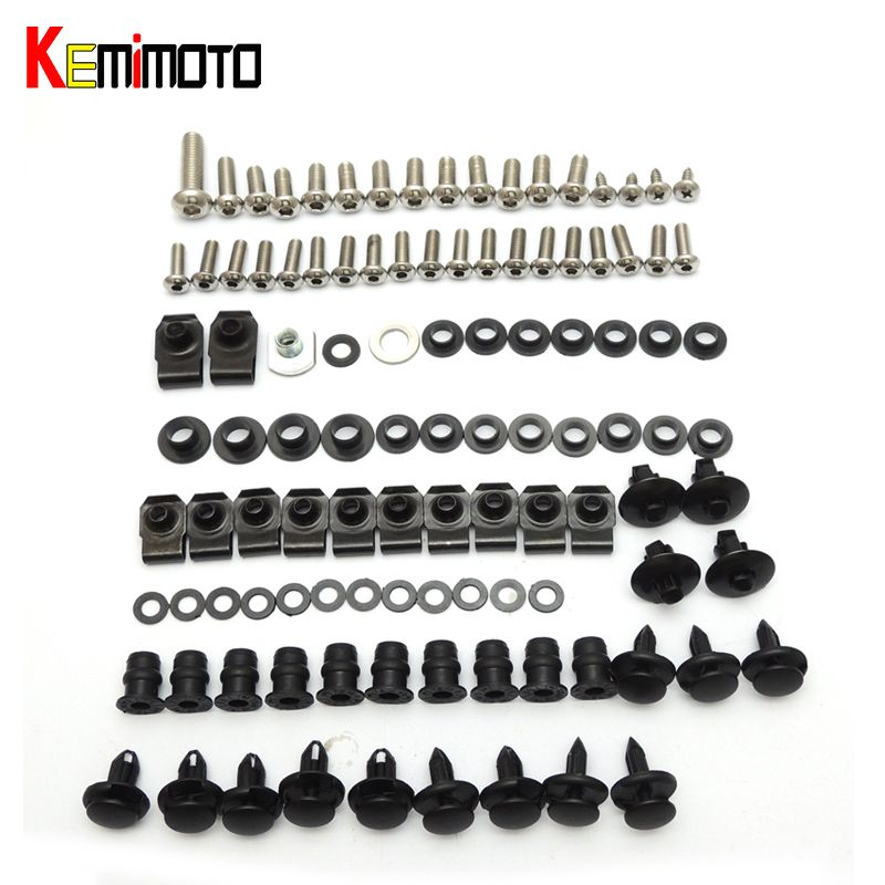 KEMiMOTO Motorcycle Fairing Bolt Screw Nuts Washers Fastener Fixation for SUZUKI GSX-R 600 750 GSXR 2006 2007 Full Kit