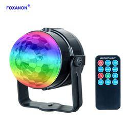 Foxanon RGB этап эффект освещения лампы 3 Вт Кристалл Magic перемещение головы шар лампы лазерный проектор Рождество КТВ Show Вечерние огни