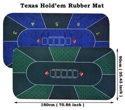 1 PC Texas Hold'em Rubber Mat Permainan Poker Meja Digital Printing Suede Kasino Tata Letak dengan Membawa Tas Ukuran: 90X180 Cm