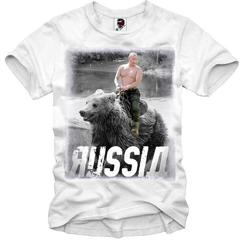 100% T Hemd Vladimir Putin Wladimir Russland Ukraine Krim Bär Smlxl