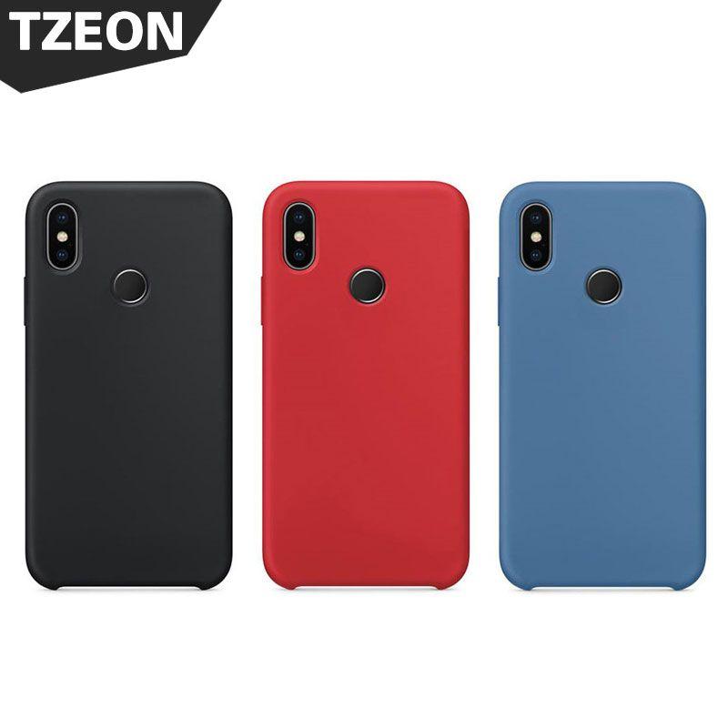 Offical Design Silicone Case For Xiaomi MI8 8 SE Slim Matte Soft Smooth Liquid Silica Gel Rubber Back Cover M8 8SE Capa Fundas