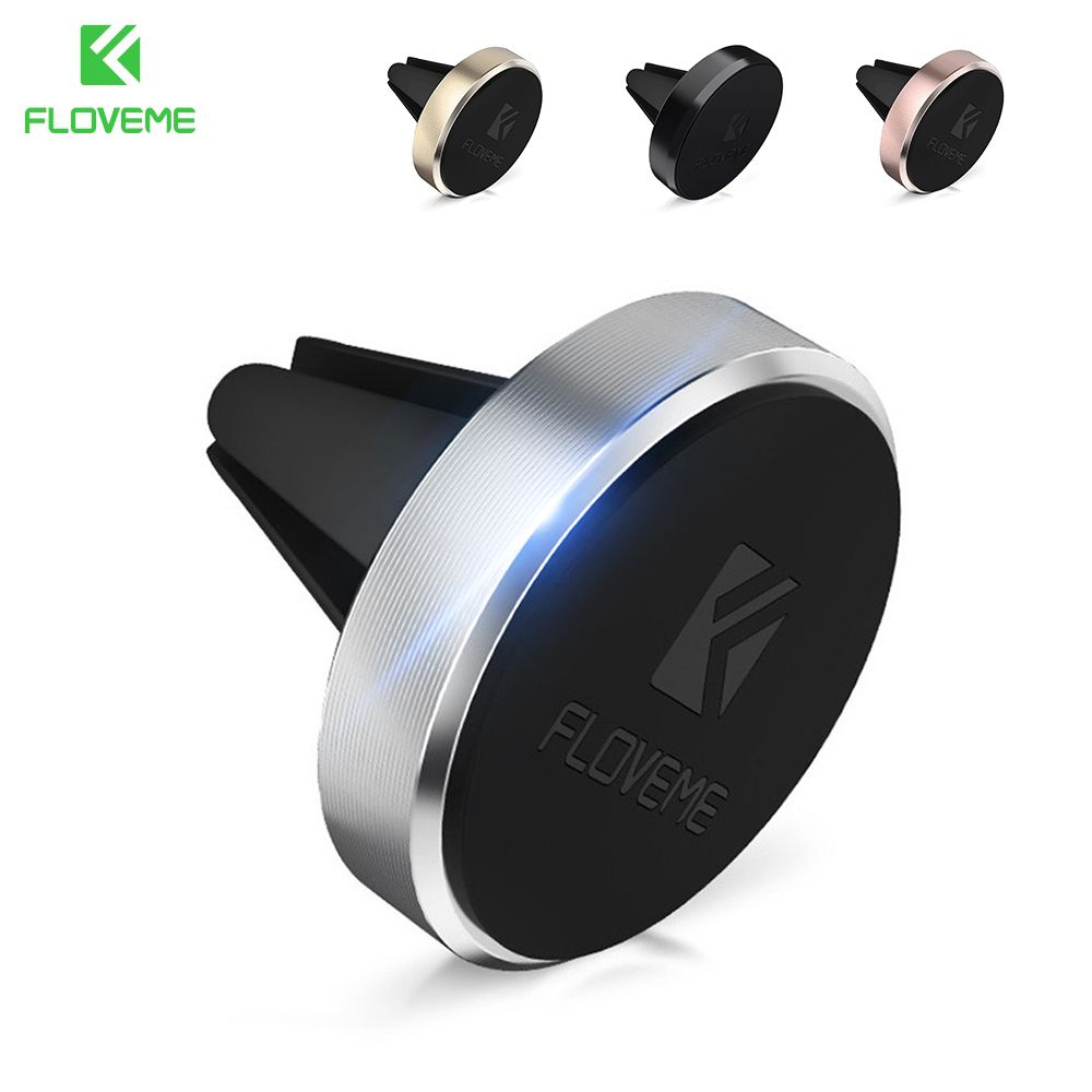 FLOVEME Magnetic Car Phone Holder For iPhone SE 5 5S 6 6S 7 Plus Magnet Mini Air Vent Outlet Car-Styling Mount Stand For Xiaomi