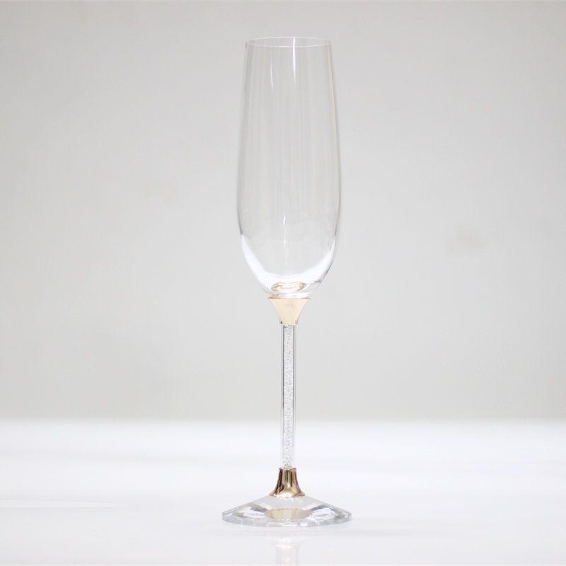 Or Rose 250 ml 2 pièces/ensemble cristal grillage lunettes de mariage personnalisé champagne verre à vin cadeaux décoration verres à boire