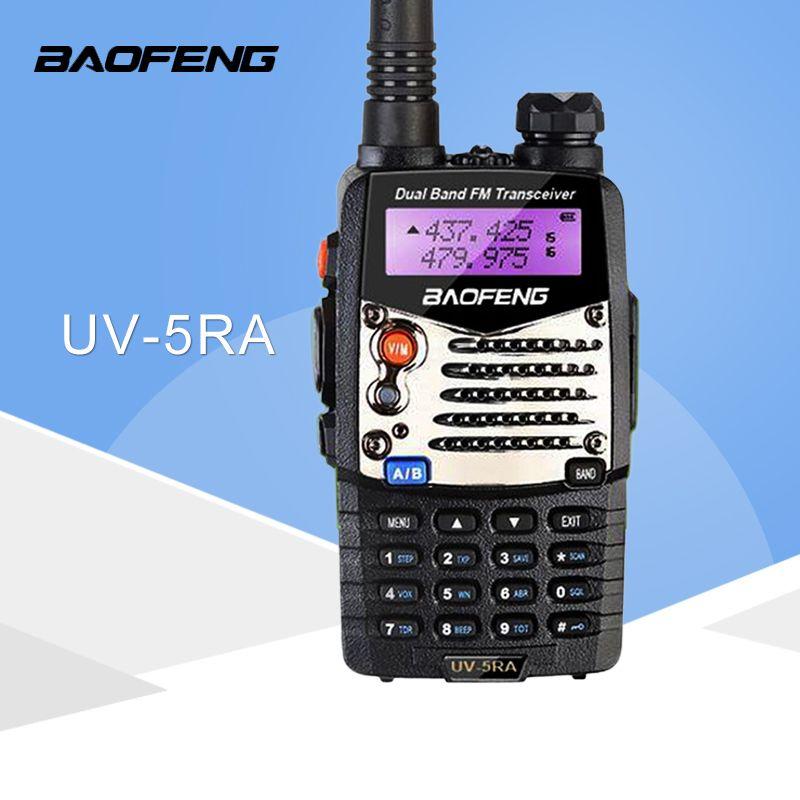 (1 pcs) Baofeng UV5RA Ham Two Way Radio talkie walkie Double-Bande Émetteur-Récepteur (Noir)
