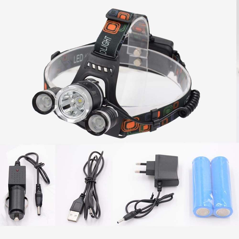 Powerful A Rechargeable Led Head Lamp 10000lm T6 Waterproof Led Flashlight Head Torch Light For Out Fishing USB 18650 Headlamps