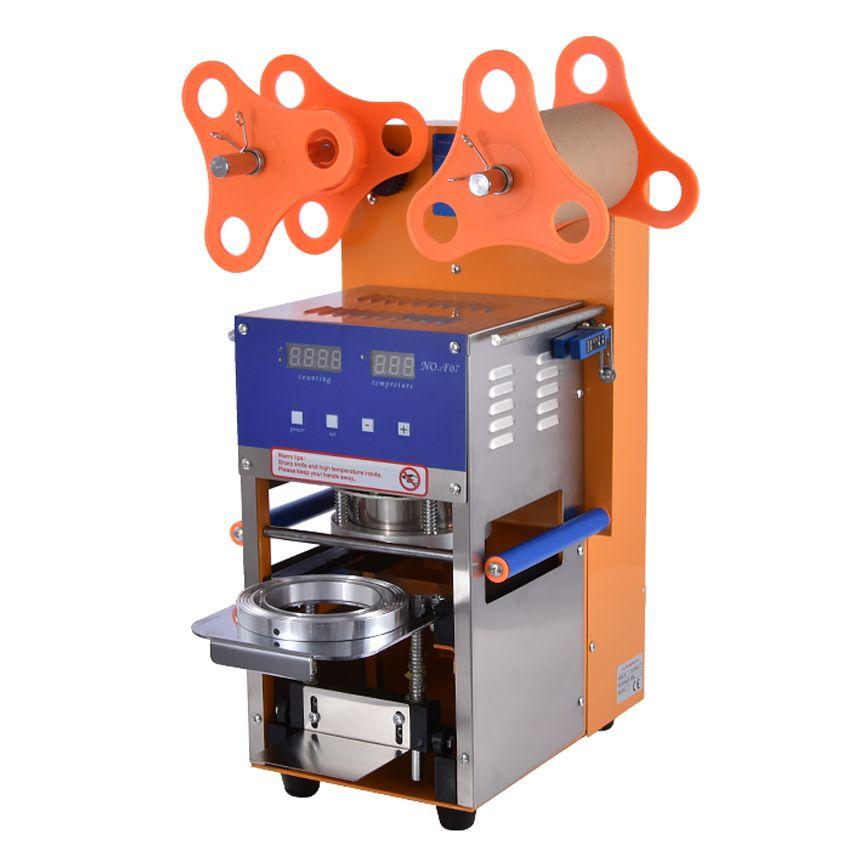 Blase Tee Tasse Dicht Maschine Voll Automatische Edelstahl Kunststoff Blase Tee Abdichtung Maschine Tasse Sealer Tasse 95 MM Größe