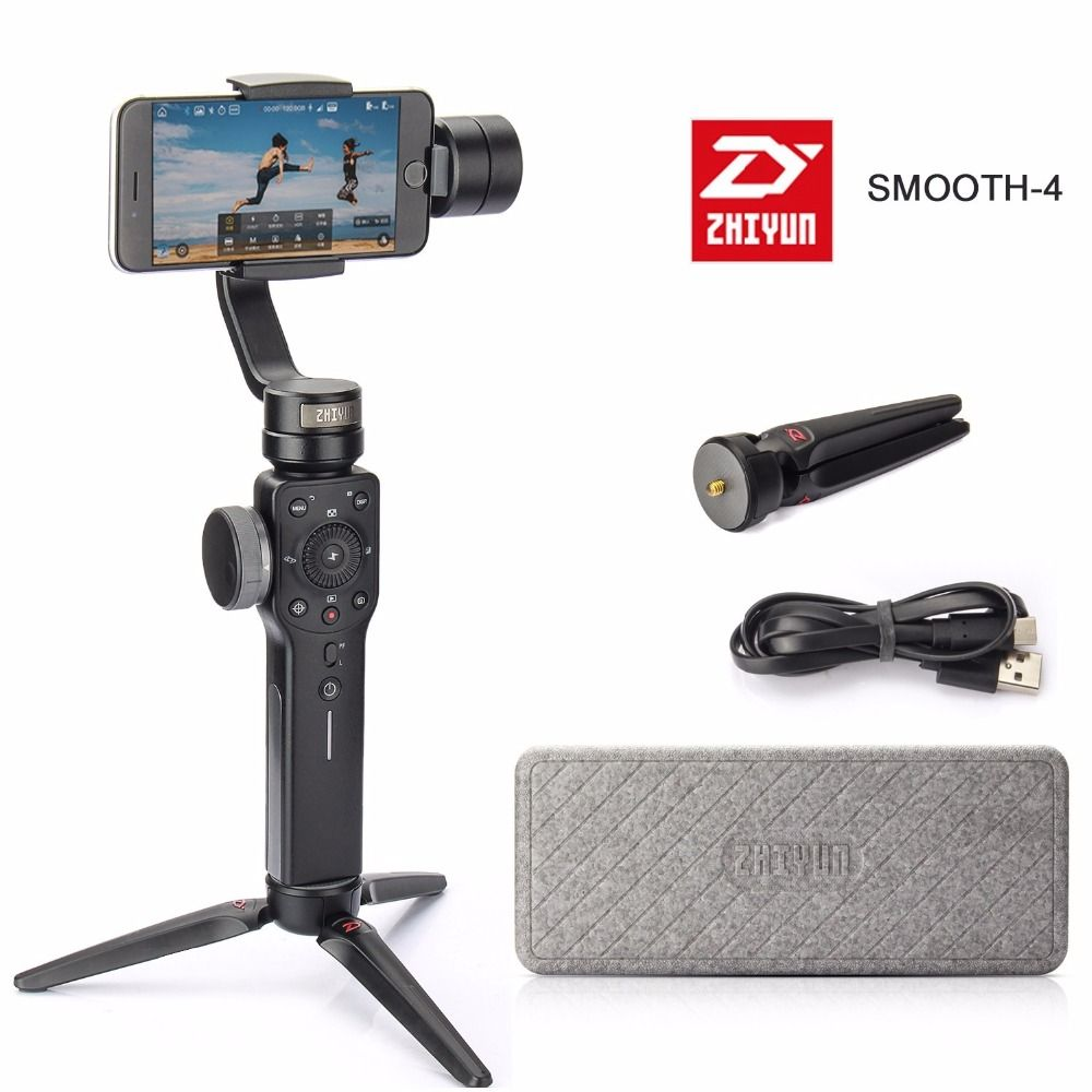 Zhiyun Smooth-Q Smooth 4 Action Camera Phone Handheld Gimbal Stabilizer for Moblie With iPhone Xiaomi Samsung S8 Smartphone