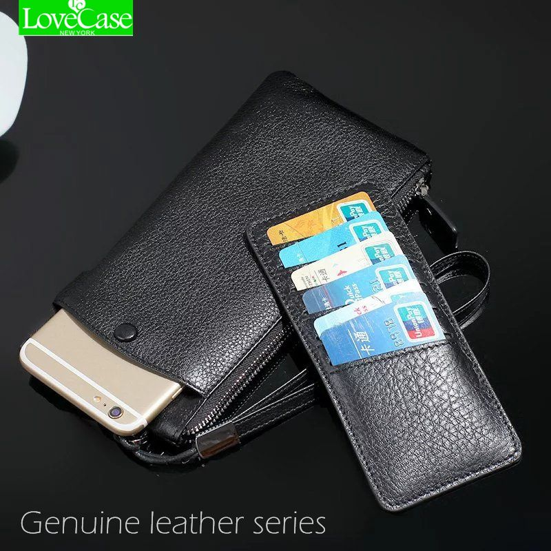 100% Genuine leather phone bag Universal 1.0