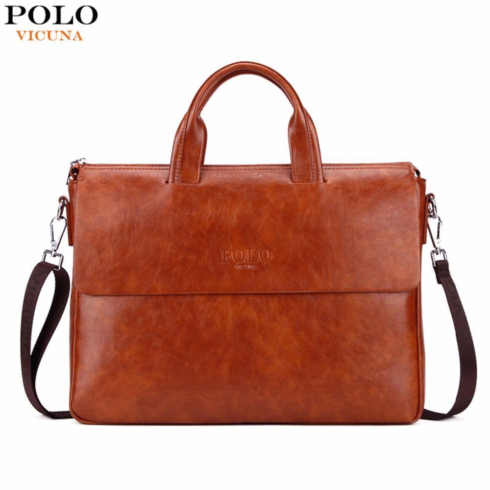 Викуньи поло новое поступление модные Бизнес человек сумка яркая Цвет Для мужчин S кожа Портфели для 14 ''ноутбук кожаный портфель для для муж...