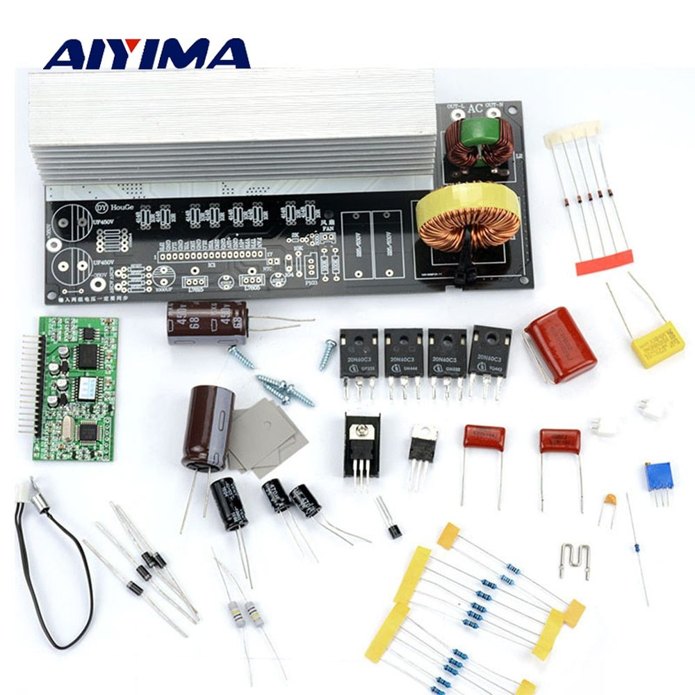 Aiyima 1Set 1000W Pure Sine Wave Inverter Power Board Post Sine Wave Amplifier Board DIY Kit Free Shipping