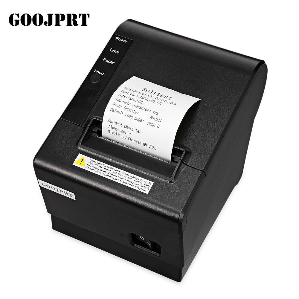 Haute qualité 58mm POS thermique reçu imprimante automatique machine de découpe vitesse d'impression rapide USB + Bluetooth port peut choisir
