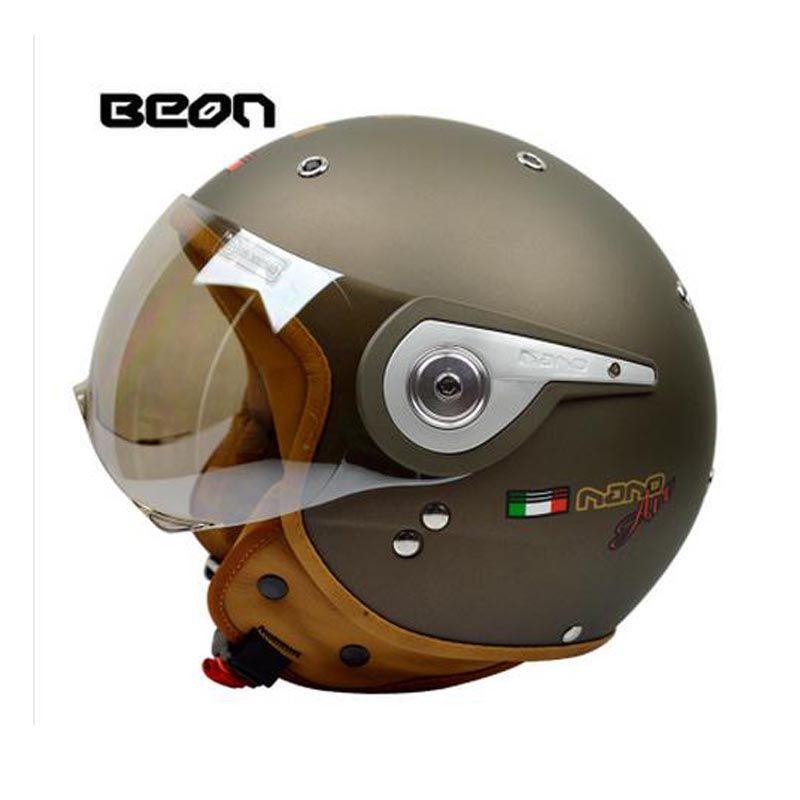 New vintage Beon motorbike motorcycle helmet vespa casco capacete open face capacetes motociclistas