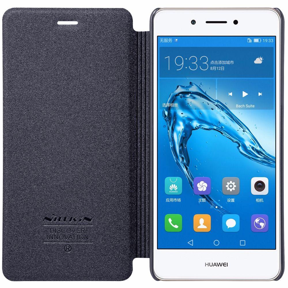 Huawei honour 6c 5.0 pouces étui Huawei honour 6c housse NILLKIN étincelle PU cuir Flip étui pour Huawei honour 6c