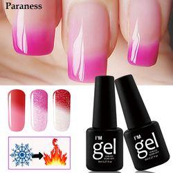 Paraness Chameleon Colorful Lucky UV Gel Varnish Temperature Change Color Gel Nail Art Long Lasting Soak-off UV Nail Gel Polish