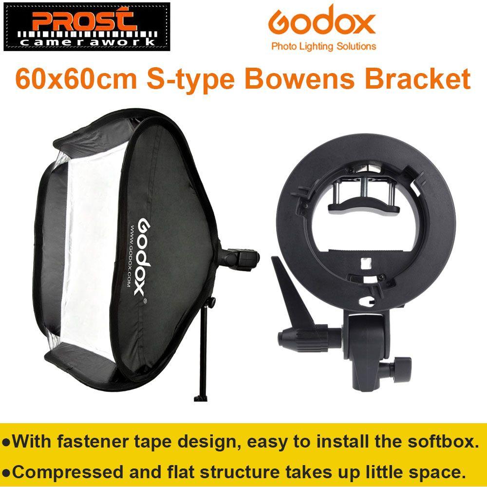 Godox Studio Photo Flash Softbox Light Kit 60 x 60cm / 24
