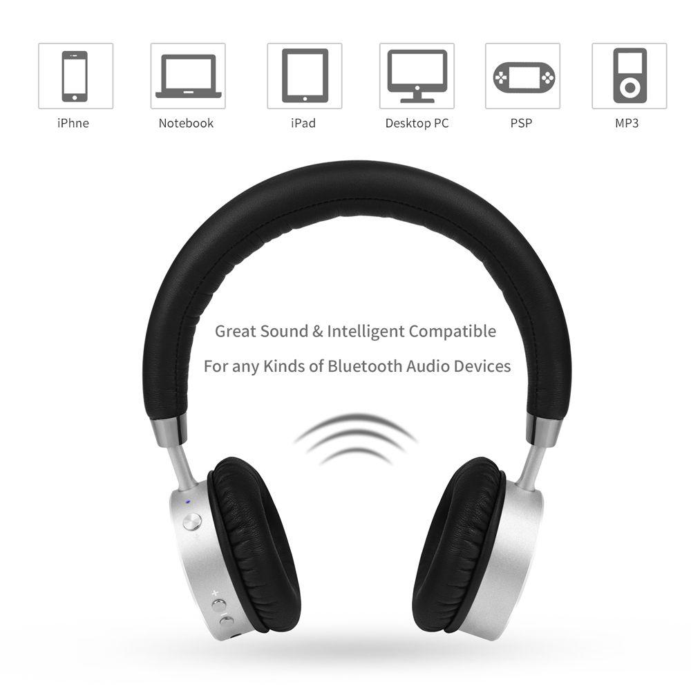 TIRER Sans Fil Bluetooth Casque avec Microphone Dynamique Stéréo Casque pour iPhone Xiaomi Meizu Android Téléphone Musique Appel