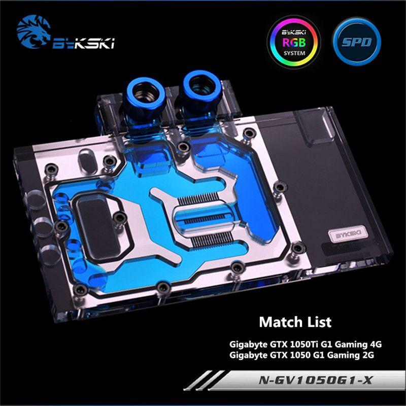 Bykski Full Coverage GPU Water Block For Gigabyte GTX1050 GTX1050TI Graphics Card N-GV1050G1-X