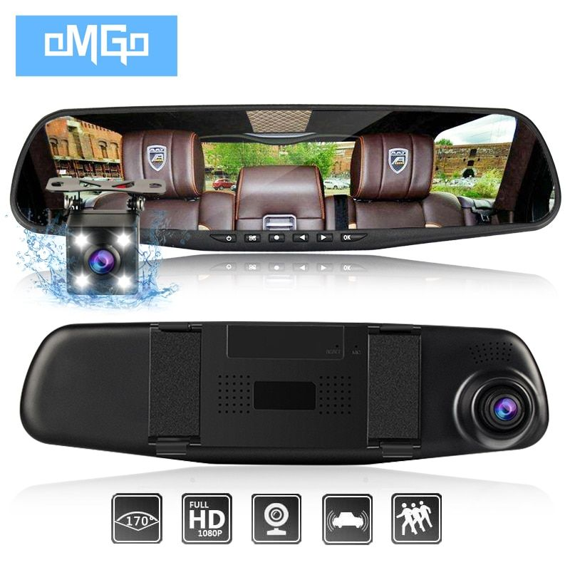 dash camera car dvr dual len rear view mirror auto dashcam recorder registrator in car video full hd dash cam Vehicle two camera