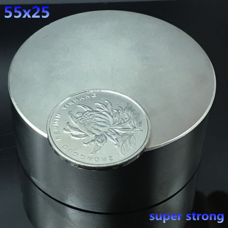 1pcs N52 55x25mm round strong neodymium magnets 55*<font><b>25mm</b></font> strong Rare Earth Magnetic powerful super strong magnets