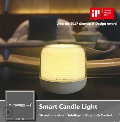 PLAYBULB Smart Candle S, LED Night Light, RGB Changeable Color, Flameless Candles Lamp, USB Charge Candle Holders Timer