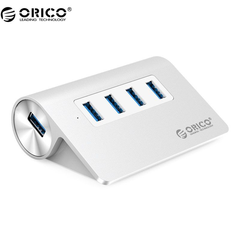 ORICO M3H4 New Mac Design Mini <font><b>High</b></font> Quality <font><b>High</b></font> Speed Aluminum 4 Port USB 3.0 HUB With Date Cable