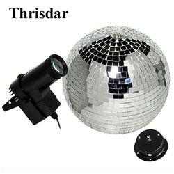 Thrisdar D15 20 25 سنتيمتر الدورية عاكس كرة ديسكو مع موتور + 10 واط RGB شعاع Pinspot ديسكو DJ ضوء المرحلة KTV بار كشاف إضاءة للحفلات