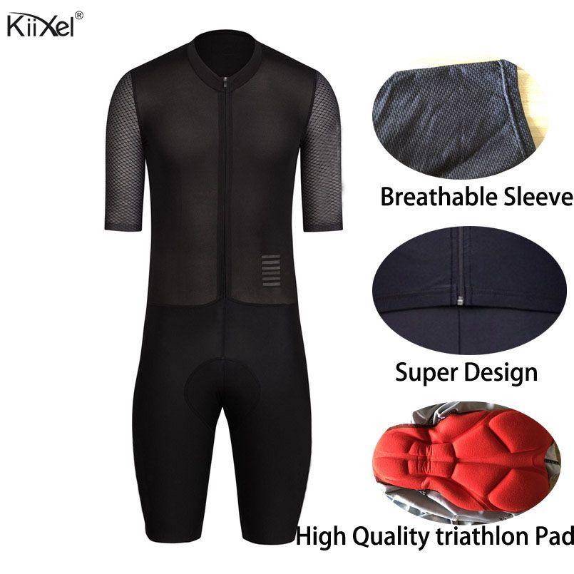 KiiXel Triathlon AERO Skinsuit Mann der Overall Geschwindigkeit Trisuit Ropa Ciclismo Maillot Pro Ein Stück Triathlon Tragen Radfahren Trikots